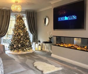christmas tree, home, and style image