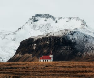 church, iceland, and landscape image