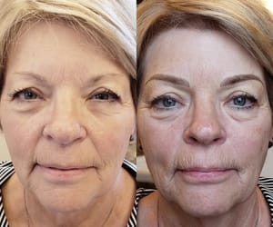 natural microblading, microblading of eyebrows, and permanent cosmetic tattoo image