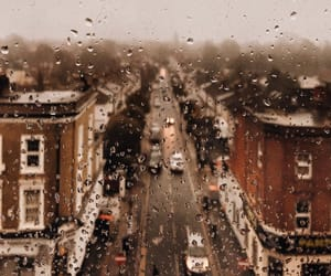 rain, autumn, and building image
