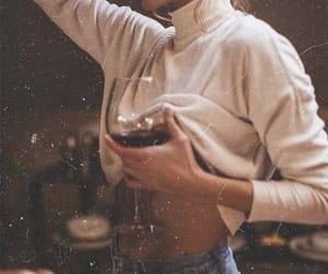 wine, girl, and aesthetic image