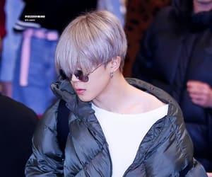 airport, grey hair, and bangtan image