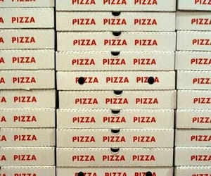 pizza, food, and red image