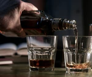 alcohol, glass, and whiskey image
