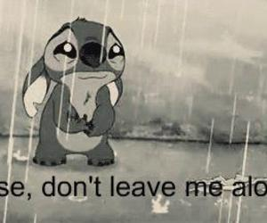 stitch, sad, and alone image