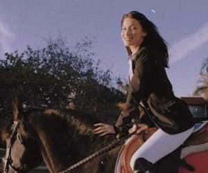 bella hadid, fashion, and horse image