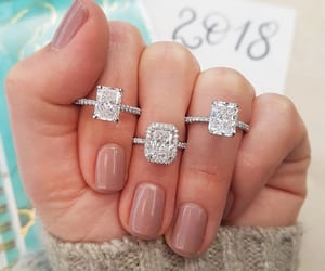 bling, diamonds, and engaged image