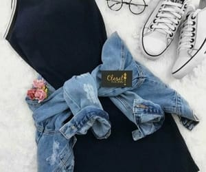 aesthetic, jean jacket, and outfit image