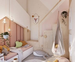 girl, home, and pink image