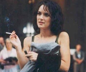 winona ryder, vintage, and cigarette image
