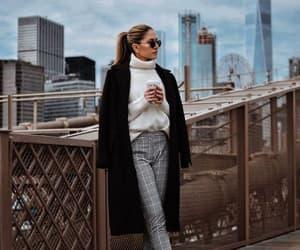 black coat, city, and fashion image