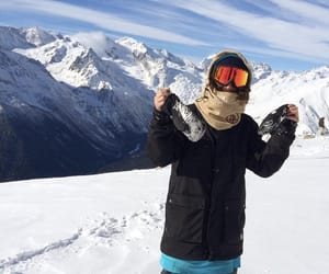 mountains, shred, and snowboard image
