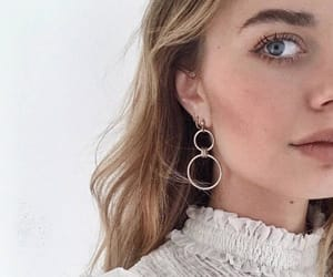 earrings, style, and blonde image