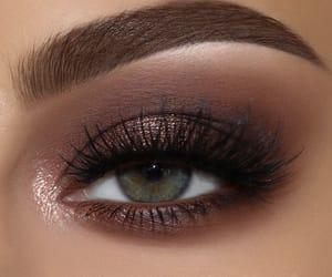 brown and makeup image
