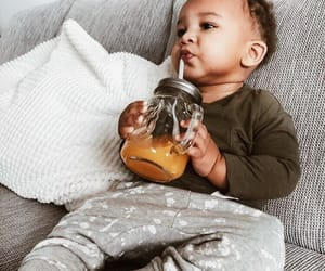 baby and juice image
