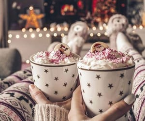 winter, coffee, and Cookies image