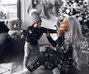 christmas, girl, and baby image