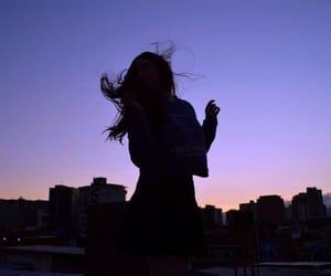girl, tumblr, and sky image