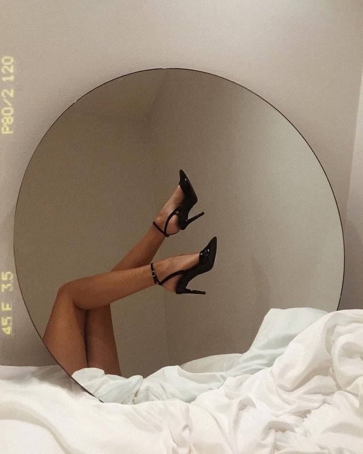 heels, mirror, and shoes image