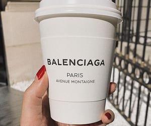 coffee, Balenciaga, and nails image