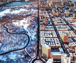 Central Park, city, and winter image