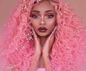 colored, pink, and hair image