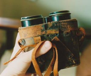 binoculars, vintage, and photography image