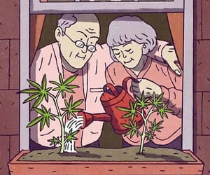 weed, love, and marijuana image