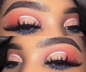 beauty, glitter, and lashes image