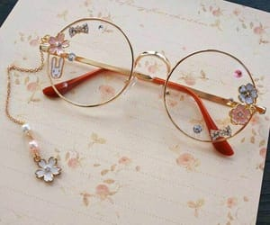 glasses, accessories, and flowers image
