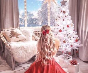christmas, trees, and vibes image