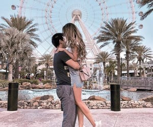 couple, ferris wheel, and love image