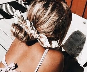 blonde, scrunch, and hair inspo image