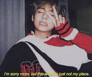quotes, bts, and sad image