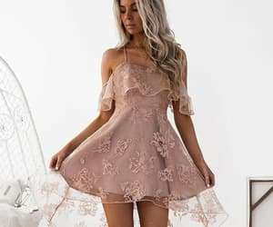 a-line prom dresses, sleeveless prom dresses, and blush homecoming dress image