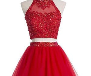 short homecoming dresses, custom made prom dresses, and prom dresses red image