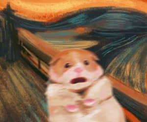 edvard munch, hamster, and the scream image