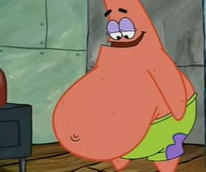 funny, patrick, and fat image