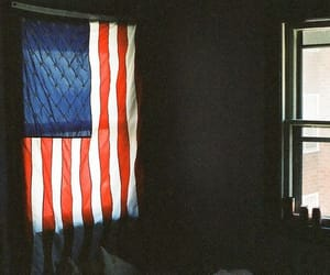 american flag, bed, and grunge image