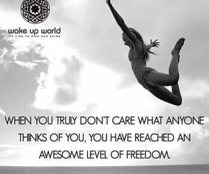 freedom, jumping, and dont care image