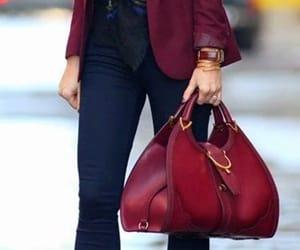 burgundy, fall fashion, and purse image