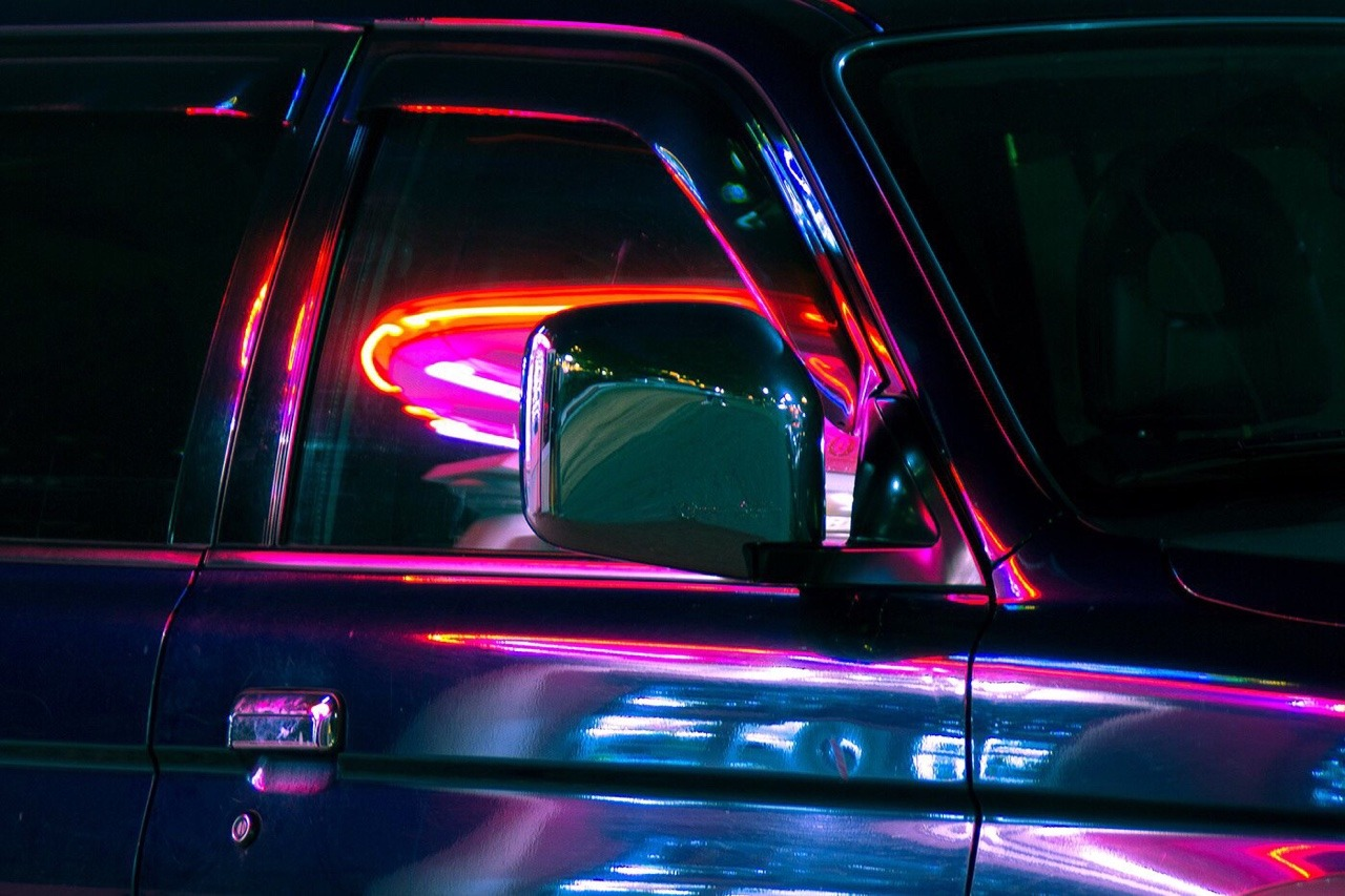 cars, neon, and night image