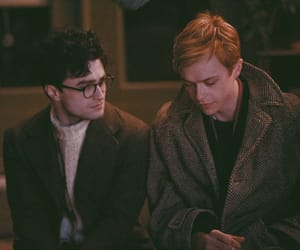 Allen Ginsberg, daniel radcliffe, and lucien carr image