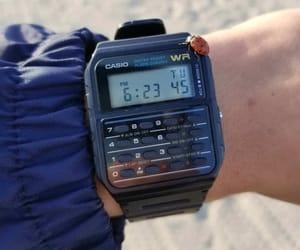 watch, calculator, and casio image