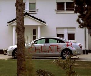 car, graffiti, and cheater image
