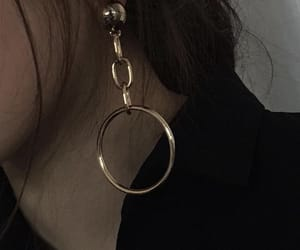 aesthetic, dark, and earring image