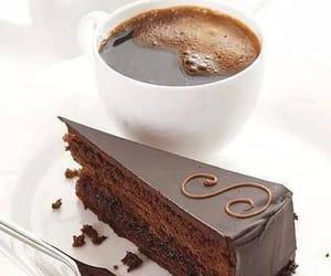 cake, coffee, and chocolate image