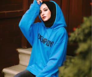 blue, hijab fashion, and girls image
