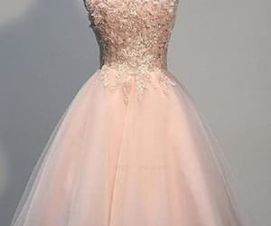 pink prom dresses, cute prom dresses, and lace homecoming dress image