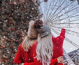 christmas, girls, and xmas image